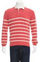 Brunello Cucinelli Cashmere Striped Polo Sweater