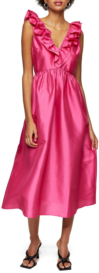 Topshop Taffeta A-Line Dress