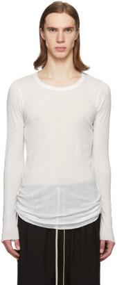 Rick Owens White Rib Long Sleeve T-Shirt