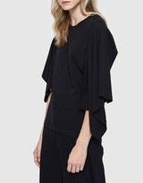 J.W.Anderson Asymmetric Drape T-Shirt in Black
