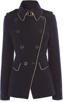 Karen Millen Navy Reefer Coat