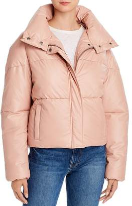 Apparis Camila Quilted Faux-Leather Puffer Jacket