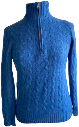 Ralph Lauren Blue Cashmere Knitwear