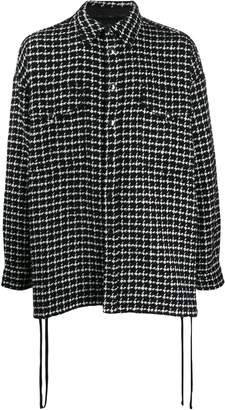 Faith Connexion checked tweed shirt jacket