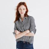 Madewell Flannel Shrunken Ex-Boyfriend Shirt in Stripe