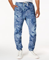 G Star Men's Palm-Print Tapered Cotton Pants