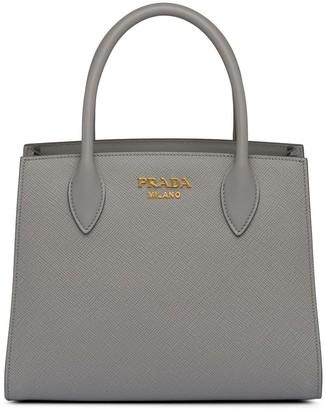 Prada Logo Plaque Top-Handle Bag