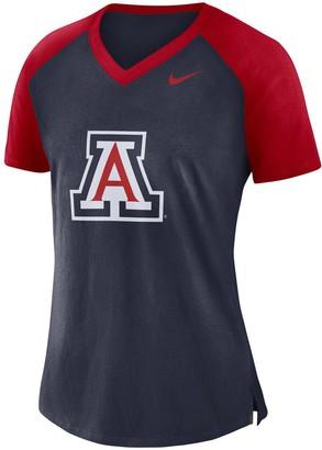 Nike Women's Navy Arizona Wildcats Fan Raglan V-Neck T-Shirt