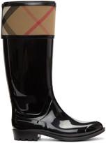 Burberry Black Croshill Rain Boots