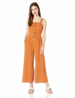 ASTR the Label Women's Baseline Sleeveless Open Back Cropped Culotte Jumpsuit