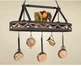 Hi-Lite Sonoma 8 Sided Hanging Pot Rack with 2 Lights