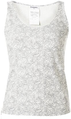 Chanel Pre Owned 1999 Address Print Tank