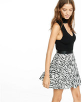 Express Printed Pleated Mini Skirt
