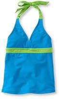 L.L. Bean Girls' BeanSport Swimsuit Top, Halter