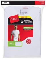 Hanes Men's Big & Tall 5Pk Crew Neck T-Shirts With Fresh IQ - White