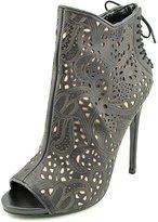Steve Madden Korsett Women US 7 Black Peep Toe Bootie