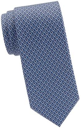 Salvatore Ferragamo Tonal Gancini Silk Tie