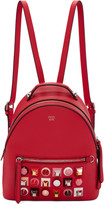 Fendi Red Mini Studded Backpack