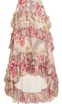 Philosophy di Lorenzo Serafini Tiered Ruffled Floral-Print Cotton And Silk-Blend Maxi Skirt