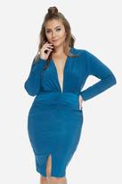 Fashion to Figure Asa Deep V Bodycon Dress