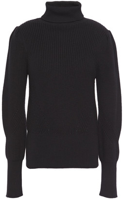 Frame Ribbed Cotton And Cashmere-blend Turtleneck Sweater