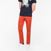 Paul Smith Men's Slim-Fit Burnt Red Stretch-Cotton Trousers