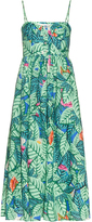 Mara Hoffman Leaf-print linen midi dress