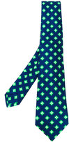 Kiton geometric pattern tie - men - Silk - One Size