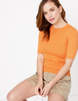 Marks and Spencer PETITE Ribbed Jumper