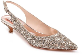Badgley Mischka Stephanie Glitter Slingback Pump
