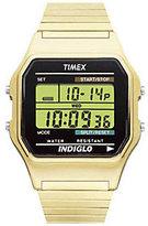 Timex Men's Digital Goldtone Expansion Band Bracelet Watch