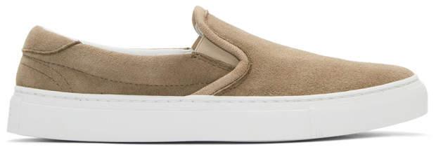 Diemme Beige Suede Garda Slip-On Sneakers