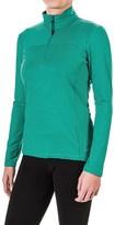 Eddie Bauer Striped Shirt - Zip Neck, Long Sleeve (For Women)