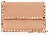 Valentino Rockstud Leather Chain Shoulder Bag, Beige