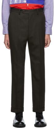 Junya Watanabe Dark Brown Wool Hopsack Trousers