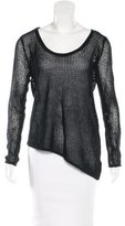 Helmut Lang Open Knit Long Sleeve Top
