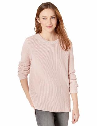Goodthreads Cotton Half-Cardigan Stitch Crewneck Sweater Pullover