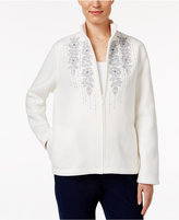 Alfred Dunner Northern Lights Embroidered Fleece Jacket