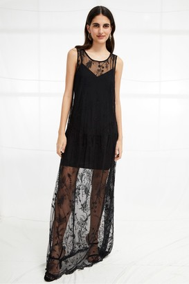 French Connection Pemba Stitch Lace Maxi Dress