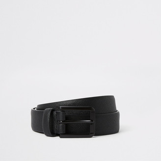 River Island Black textured buckle belt