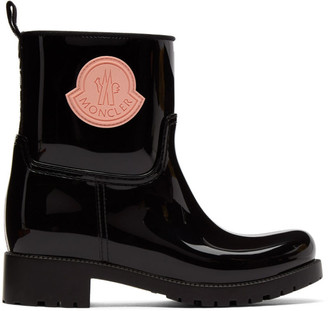 Moncler Black Rubber Ginette Boots