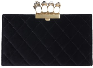Alexander McQueen Jewelled Four-Ring Pouch