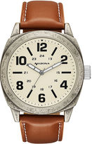 Arizona Mens Brown Strap Watch-Fmdarz535
