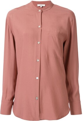 Vince Relaxed Band Collar blouse