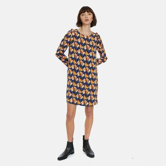 Compania Fantastica Short Printed Dress with Long Sleeves