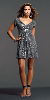 Black and Silver Sequin Dresses by Jovani