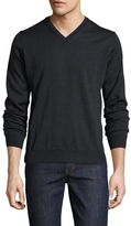 Toscano Wool V-Neck Sweater