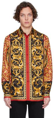 Versace Multicolor Silk Barocco Shirt