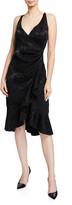 Sachin + Babi Hattie Sleeveless Drape Front Ruffled Dress
