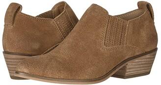 Frye Rubie Western Slip-On (Cognac Suede) Women's Boots